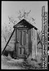 Photo of outhouse.