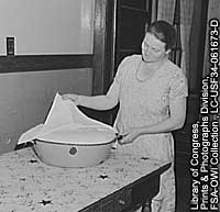 Photo of woman baking bread.
