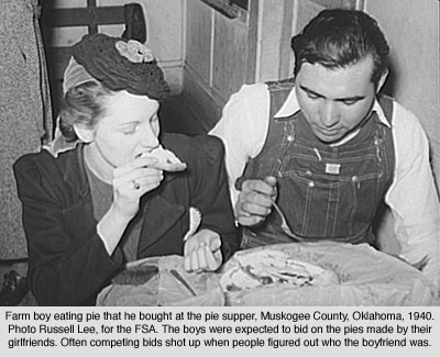 Having Fun  Dating During The Great Depression Dating At A Pie Supper