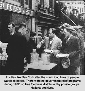 Bread line NYC 1932