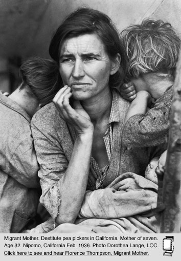 Okies, Dust Bowl Migrants from Oklahoma & the Plains