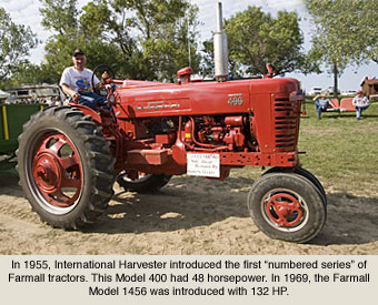International Harvester Farmall Tractors during the 1950s
