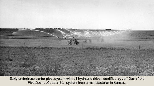 the innovators of center pivot irrigation during the 1950s undertruss hydraulic drive system