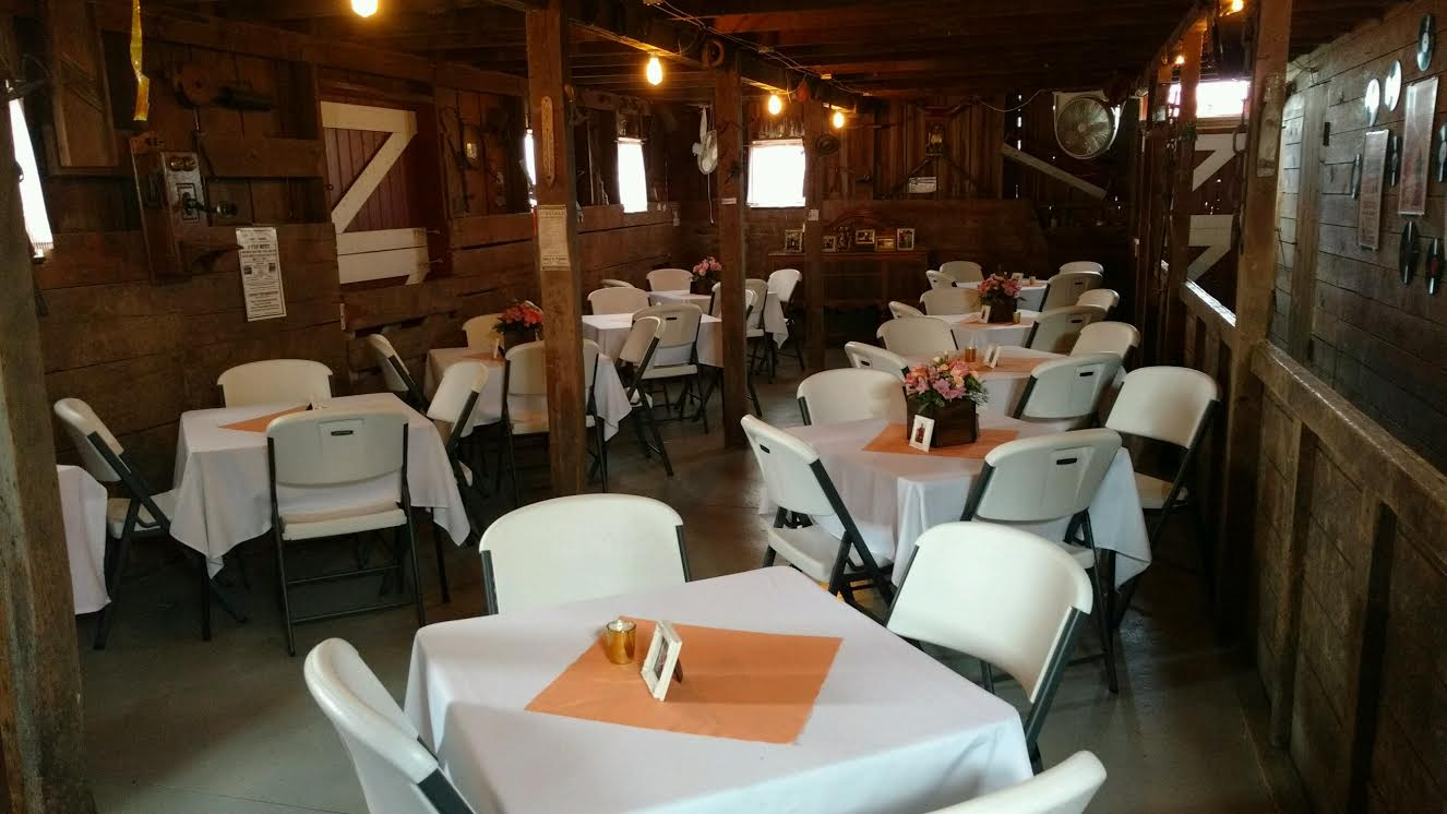 Wedding reception in the barn!
